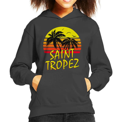 Saint Tropez Vintage Sun Kid's Hooded Sweatshirt by BoyWithHat - Cloud City 7