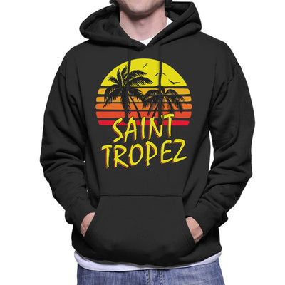 Saint Tropez Vintage Sun Men's Hooded Sweatshirt by BoyWithHat - Cloud City 7