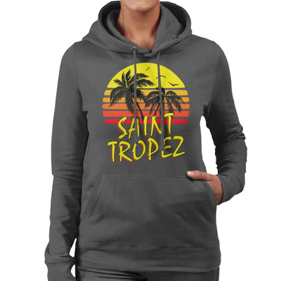Saint Tropez Vintage Sun Women's Hooded Sweatshirt by BoyWithHat - Cloud City 7
