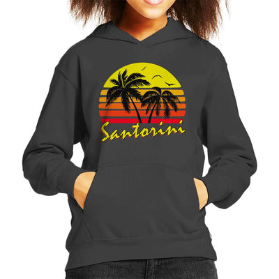 Santorini Vintage Sun Kid's Hooded Sweatshirt by BoyWithHat - Cloud City 7