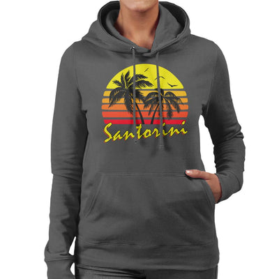 Santorini Vintage Sun Women's Hooded Sweatshirt by BoyWithHat - Cloud City 7