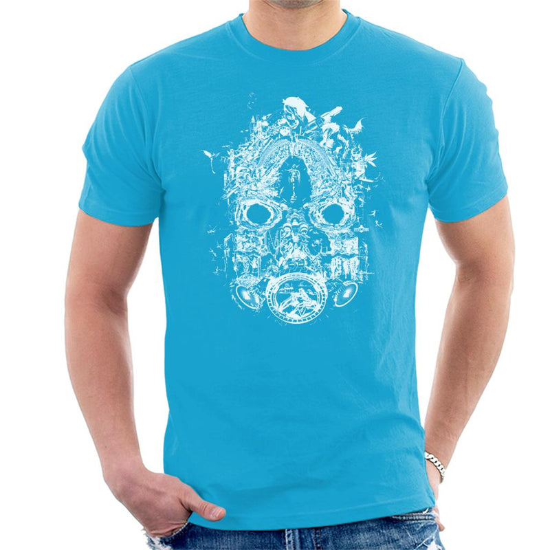 Borderlands 3 Mask Of Mayhem White Print Men's T-Shirt by BrotherOfPerl - Cloud City 7