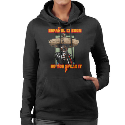 Espanol Cabron Do You Speak It Pulp Fiction Women's Hooded Sweatshirt by AndreusD - Cloud City 7