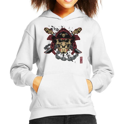 Killer Kabuto Hockey Mask Samuarai Kid's Hooded Sweatshirt by AndreusD - Cloud City 7