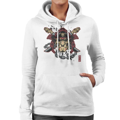 Killer Kabuto Hockey Mask Samuarai Women's Hooded Sweatshirt by AndreusD - Cloud City 7