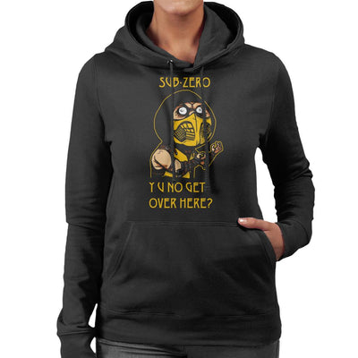 Ninja Meme Sub Zero Mortal Kombat Women's Hooded Sweatshirt by AndreusD - Cloud City 7