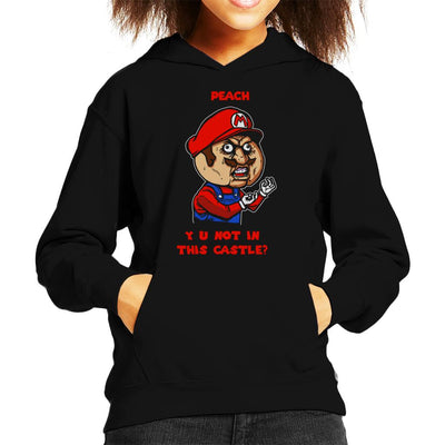 Plumber Meme Super Mario Bros Kid's Hooded Sweatshirt by AndreusD - Cloud City 7