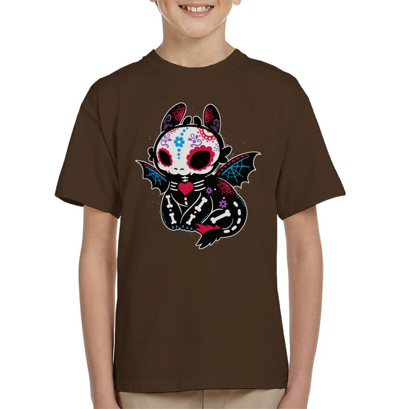 Toothless Skeleton How To Train Your Dragon Kid's T-Shirt by NemiMakeit - Cloud City 7