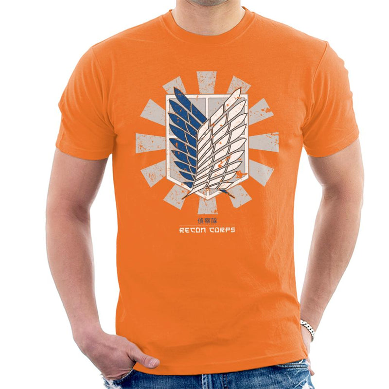 Recon Corps Retro Japanese Attack On Titan Men's T-Shirt by Nova5 - Cloud City 7