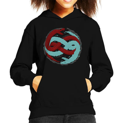 Twin Snakes Metal Gear Solid Kid's Hooded Sweatshirt by One Legged Kiwi - Cloud City 7