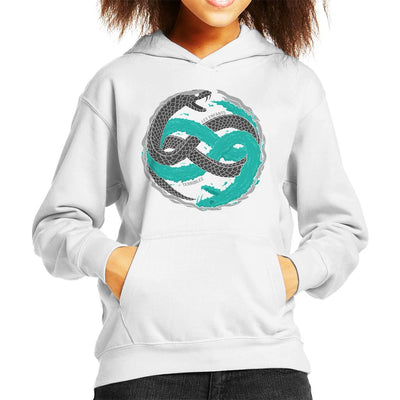 Twin Snakes Black Metal Gear Solid Kid's Hooded Sweatshirt by One Legged Kiwi - Cloud City 7