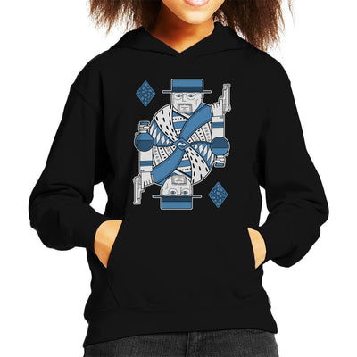 King Of Crystals Breaking Bad Playing Card Kid's Hooded Sweatshirt by One Legged Kiwi - Cloud City 7