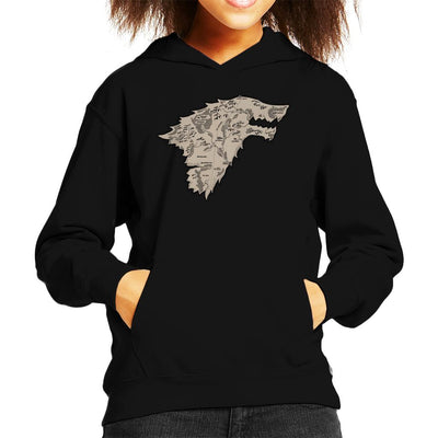 Stark Territory Game Of Thrones Kid's Hooded Sweatshirt by One Legged Kiwi - Cloud City 7