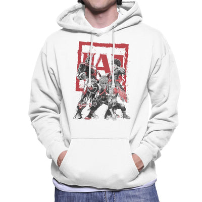 My Heroes Sumi E My Hero Academia Men's Hooded Sweatshirt by Dr.Monekers - Cloud City 7