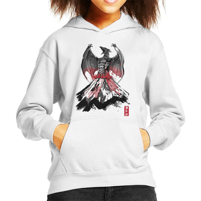 The Rise Of The Fire Pteranodon Kid's Hooded Sweatshirt by Dr.Monekers - Cloud City 7