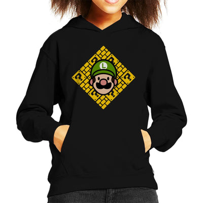 Its A Me Chibi Luigi Super Mario Kid's Hooded Sweatshirt by Evasinmas - Cloud City 7