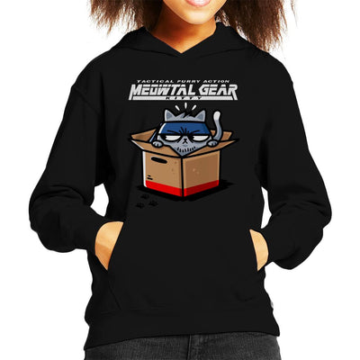 Meowtal Metal Gear Solid Kitty Kid's Hooded Sweatshirt by Evasinmas - Cloud City 7