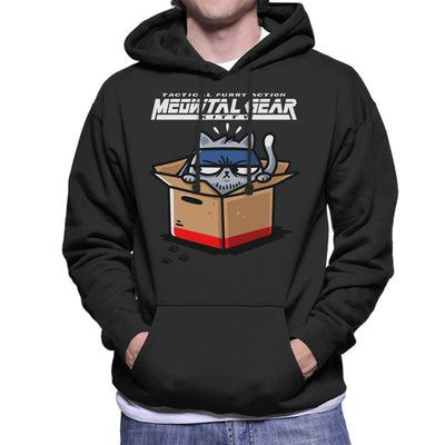 Meowtal Metal Gear Solid Kitty Men's Hooded Sweatshirt by Evasinmas - Cloud City 7