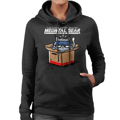 Meowtal Metal Gear Solid Kitty Women's Hooded Sweatshirt by Evasinmas - Cloud City 7