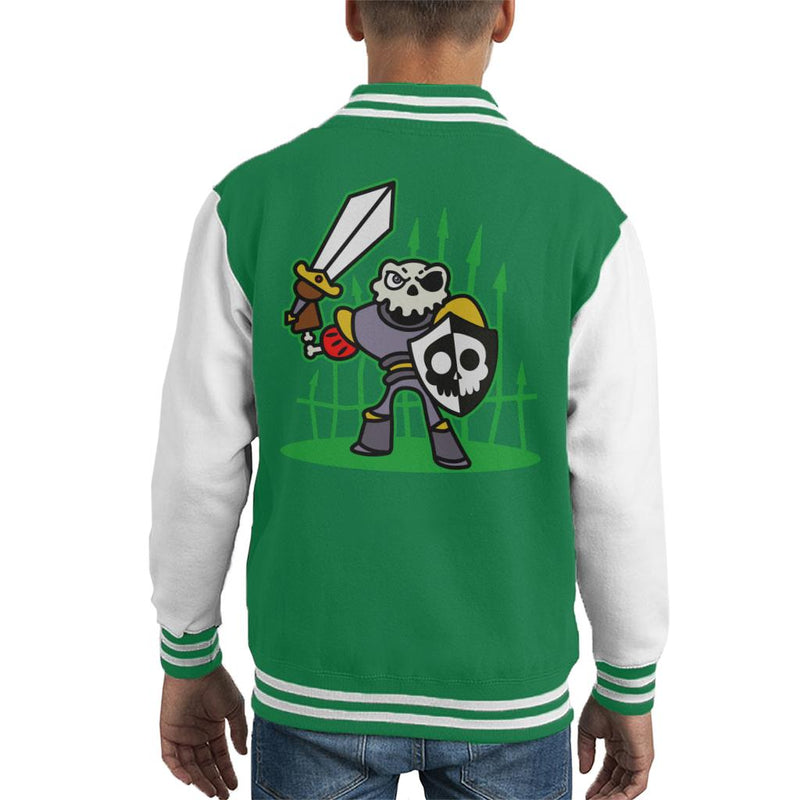 Sir Daniel Fortesque MediEvil Kid's Varsity Jacket by Evasinmas - Cloud City 7