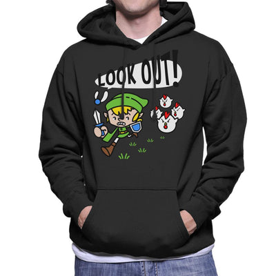 Look Out Link Legend Of Zelda Men's Hooded Sweatshirt by Evasinmas - Cloud City 7
