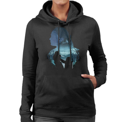 Arya Night King Silhouette Game Of Thrones Women's Hooded Sweatshirt by dandingeroz - Cloud City 7