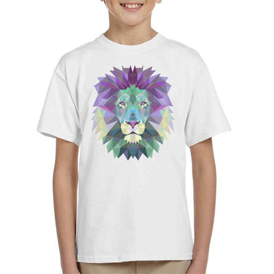 Fractal Lion Kid's T-Shirt by crbndesign - Cloud City 7