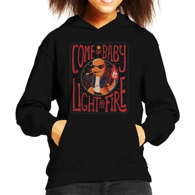 Come On Baby Light My Fire Charmander Kid's Hooded Sweatshirt by eduely - Cloud City 7
