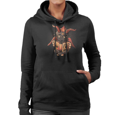Learning Evil Cute Baphomet Women's Hooded Sweatshirt by eduely - Cloud City 7