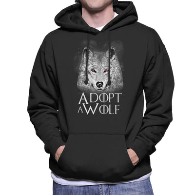 Adopt A Wolf Game Of Thrones Men's Hooded Sweatshirt by eduely - Cloud City 7