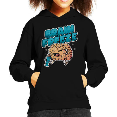Brain Freeze Kid's Hooded Sweatshirt by eduely - Cloud City 7