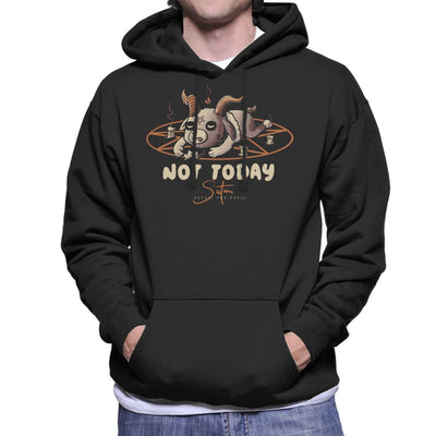 Not Today Satan Cute Baphomet Men's Hooded Sweatshirt by eduely - Cloud City 7