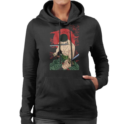 Roronoa Zoro Sun Rise Swords One Piece Women's Hooded Sweatshirt by Jelly89 - Cloud City 7