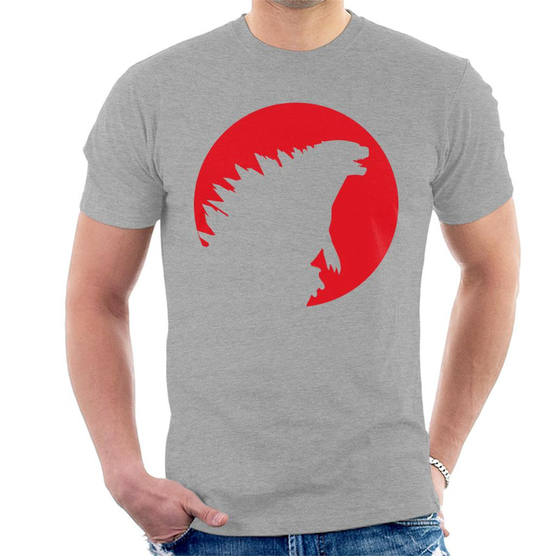 Godzilla Red Silhouette Men's T-Shirt by Sam Green - Cloud City 7