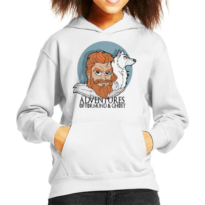 Game Of Thrones The Adventures Of Tormund And Ghost Kid's Hooded Sweatshirt by TopNotchy - Cloud City 7