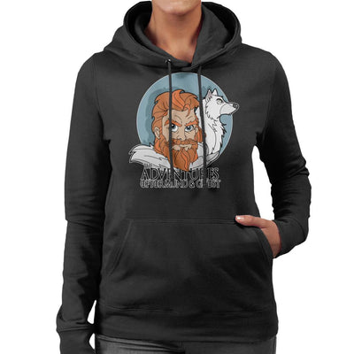 Game Of Thrones The Adventures Of Tormund And Ghost Women's Hooded Sweatshirt by TopNotchy - Cloud City 7