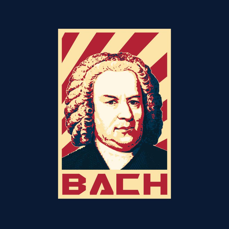 Johann Sebastian Bach Retro Propaganda by BoyWithHat - Cloud City 7