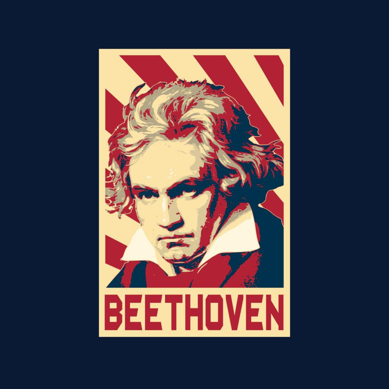 Ludwig Van Beethoven Retro Propaganda by BoyWithHat - Cloud City 7