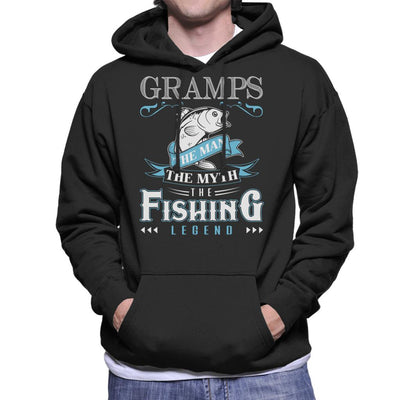 Gramps The Man The Myth The Fishing Legend Men's Hooded Sweatshirt by Happeace - Cloud City 7