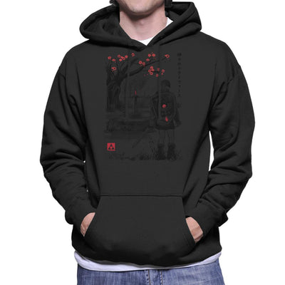 A Link To The Sumi E Legend Of Zelda Men's Hooded Sweatshirt by Dr.Monekers - Cloud City 7