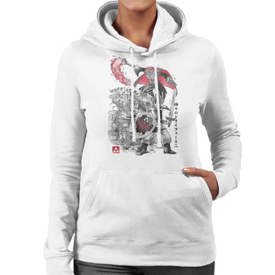 Between Worlds Sumi E Legend Of Zelda Women's Hooded Sweatshirt by Dr.Monekers - Cloud City 7