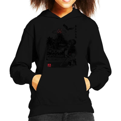 Heros Awakening Sumi E Legend Of Zelda Kid's Hooded Sweatshirt by Dr.Monekers - Cloud City 7