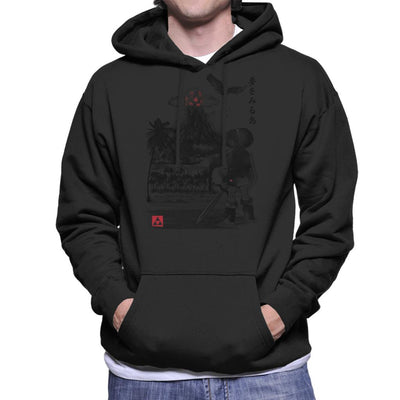 Heros Awakening Sumi E Legend Of Zelda Men's Hooded Sweatshirt by Dr.Monekers - Cloud City 7
