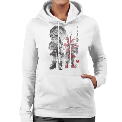 Majoras Sumi E Legend Of Zelda Women's Hooded Sweatshirt by Dr.Monekers - Cloud City 7