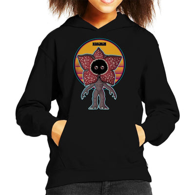 Stranger Things Cute Demogorgon Kid's Hooded Sweatshirt by douglasstencil - Cloud City 7