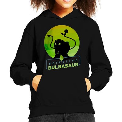 Detective Bulbasaur Silhouette Kid's Hooded Sweatshirt by douglasstencil - Cloud City 7