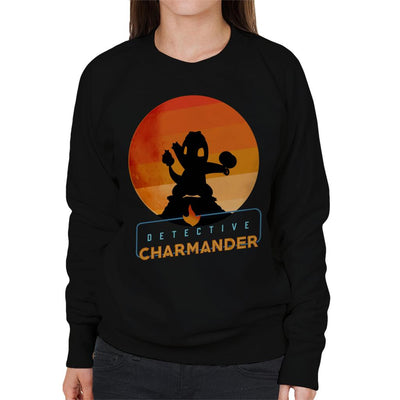 Detective Charmander Silhouette Women's Sweatshirt by douglasstencil - Cloud City 7