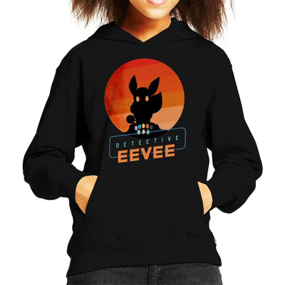 Detective Eevee Silhouette Kid's Hooded Sweatshirt by douglasstencil - Cloud City 7