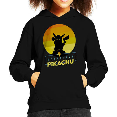 Detective Pikachu Silhouette Kid's Hooded Sweatshirt by douglasstencil - Cloud City 7