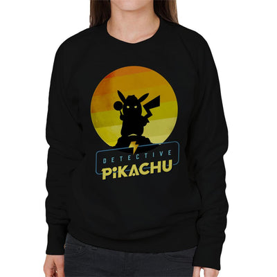 Detective Pikachu Silhouette Women's Sweatshirt by douglasstencil - Cloud City 7